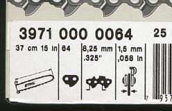 Ersatzketten Schachtel mit Ketten Bezeichnung